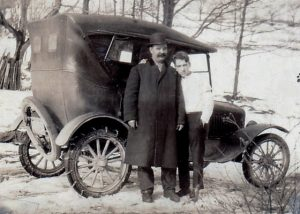 William (Bill) Nathan McDowell (1882-1966) and Ralph Freudenberg (1903-1980) in Winterton, New York on December 26, 1926. Photograph from the collection of Ralph Freudenberg (1903-1980) and Nora Belle Conklin (1902-1963).